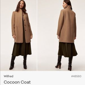 Aritzia Wilfred Cocoon Coat -Virgin Wool Cashmere